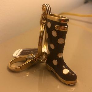 NWT Henri Bendel Polka Dot Boot Key Chain